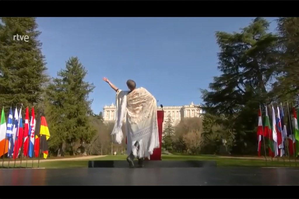 Rubén Olmo baila en el Día Europeo de las Víctimas del Terrorismo